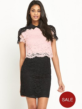 v-by-very-two-tone-lace-dress