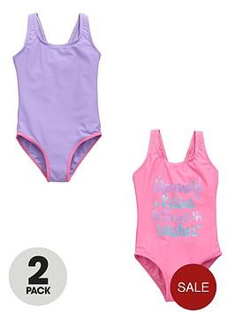 ladybird-girls-mermaid-kisses-swimsuits-2-pack