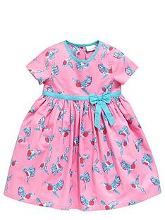 ladybird-girls-pink-bird-print-dress