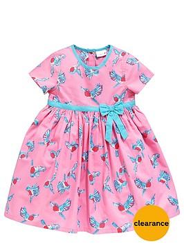 ladybird-girls-pink-bird-print-dress