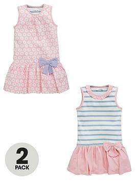 ladybird-girls-stripe-and-flower-jersey-dresses-2-pack