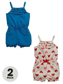 ladybird-girls-heritage-jersey-playsuitsnbsp2-pack