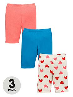 ladybird-girls-jersey-cycling-shorts-in-bright-colours-and-heart-print-3-pack
