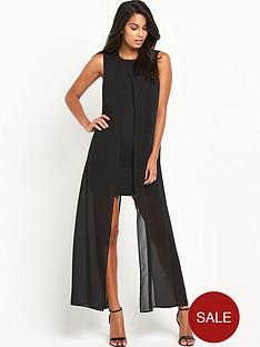 v-by-very-longline-chiffon-bodycon-dress