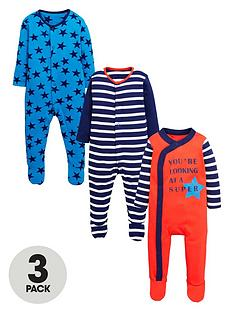 ladybird-baby-boys-star-and-stripe-sleepsuitsnbsp3-pack