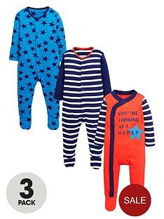 ladybird-baby-boys-star-and-stripe-sleepsuitsnbsp3-pack