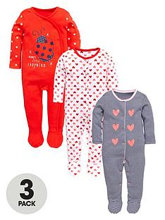 ladybird-baby-girls-ladybird-and-hearts-sleepsuitsnbsp3-pack