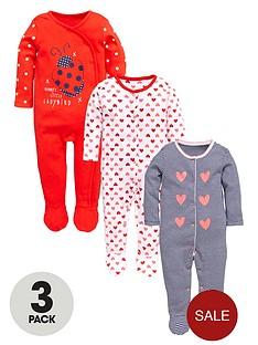 ladybird-baby-girls-ladybird-and-hearts-sleepsuitsnbsp3-pack
