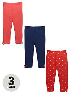 ladybird-baby-girls-spot-and-plain-leggings-3-pack