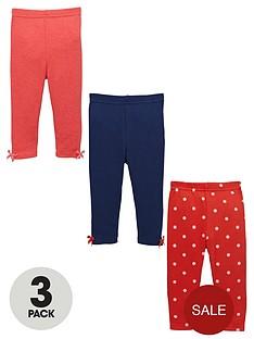 ladybird-baby-girls-spot-and-plain-leggings-3-pack