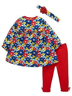 ladybird-baby-girls-floral-frill-dress-leggings-and-headband-set-3-piece
