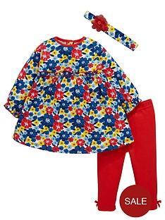 ladybird-baby-girls-floral-frill-dress-leggings-and-headband-set-3-piece