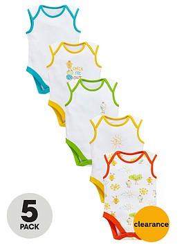 ladybird-baby-unisex-sleeveless-chick-bodysuits-5-pack