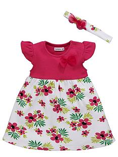 ladybird-baby-girls-floral-jersey-dress-with-headband-set-2-piece