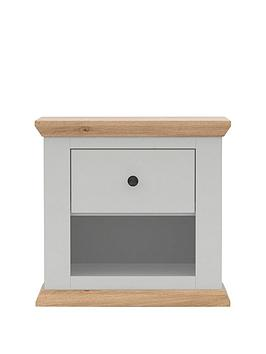 Easton Lamp Table – Grey/Oak-Effect
