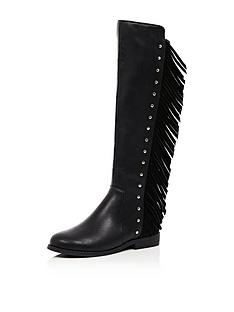 river-island-girls-fringed-knee-boots