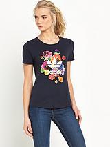 Floral Burst Graphic T-shirt