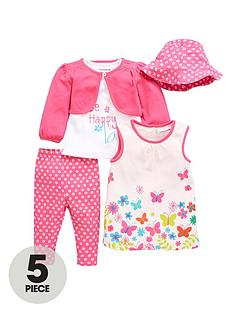 ladybird-baby-girls-dress-t-shirt-cardigan-leggings-and-hat-set-5-piece