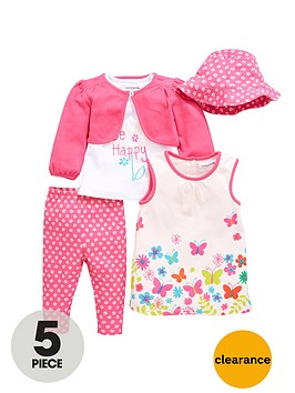 ladybird-baby-girls-dress-t-shirt-cardigan-leggings-and-hat-set-5-piece