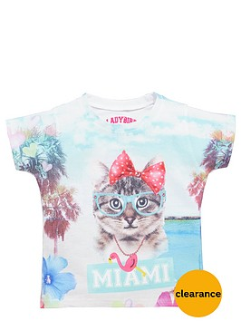 ladybird-girls-photographic-miami-kitten-t-shirt