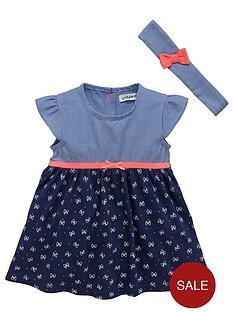 ladybird-baby-girls-jersey-and-chambray-dress-with-headband-set-2-piece