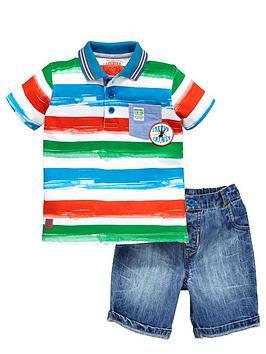 ladybird-boys-stripe-polo-shirt-and-denim-shorts-set-2-piece