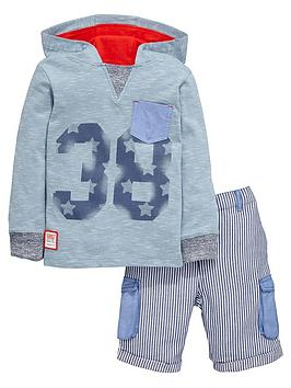 ladybird-boys-hooded-jersey-top-and-pinstripe-shorts-set-2-piece
