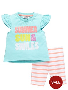 ladybird-girls-broderie-back-t-shirt-and-cycling-shorts-set-2-piece