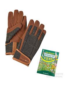 thompson-morgan-men039s-tweed-garden-gloves-size-ml-with-gardening-tips-book