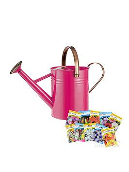 thompson-morgan-vintage-38l-watering-can-in-bright-pink