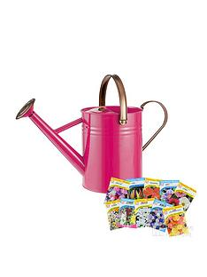 thompson-morgan-vintage-45l-watering-can-in-bright-pink-with-free-thompson-amp-morgan-seeds