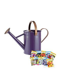 thompson-morgan-vintage-45l-watering-can-in-heritage-purple-with-free-thompson-amp-morgan-seeds