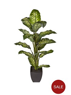 4ft-faux-diffenbachia-in-plastic-pot
