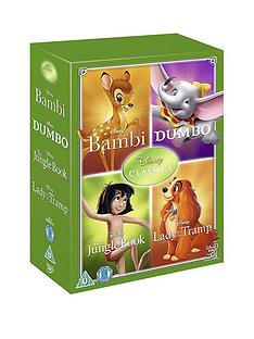 disney-disney-classics-timeless-classics-4-dvd-collection-set-2-jungle-book-bambi-dumbo-lady-amp-the-tra