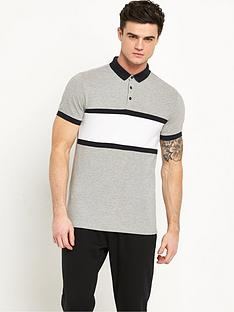 v-by-very-chest-stripe-print-polo