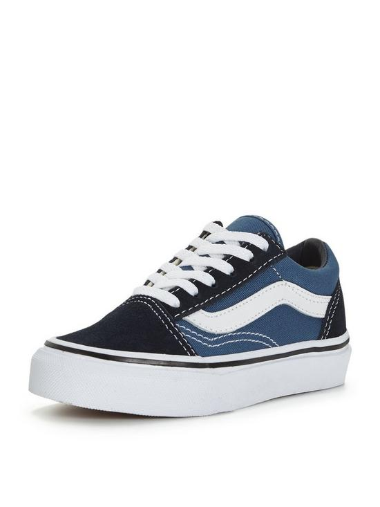 e770fae12af74 Vans Old Skool Childrens Trainer - Blue | very.co.uk