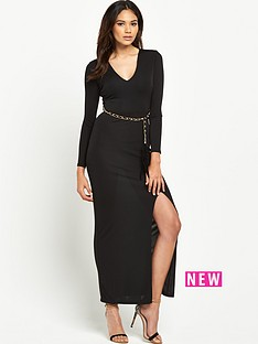 river-island-split-side-belted-maxi-dress