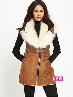 river-island-faux-fur-collar-sleeveless-jacket