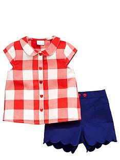 ladybird-girls-gingham-blouse-and-shorts-set-2-piece