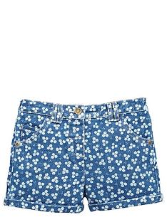 ladybird-girls-floral-denim-shorts