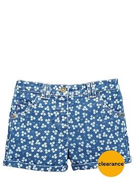 ladybird-girls-floral-denim-shorts