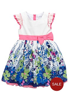 ladybird-girls-floral-border-print-dress