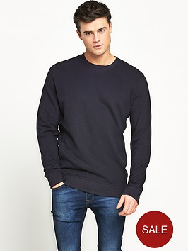 v-by-very-crew-neck-pique-sweat-with-side-rib
