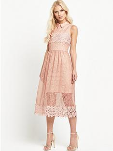 miss-selfridge-collar-mix-lace-prom-dressnbsp