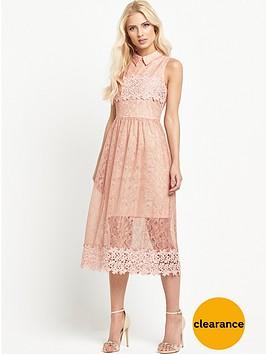 miss-selfridge-collar-mix-lace-prom-dressnbsp