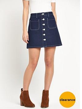 miss-selfridge-miss-selfridge-patch-pocket-skirt-with-ecru-contrast-stitch-detail