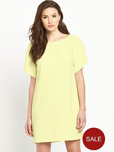 french-connection-arrow-crepe-round-neck-tunic-dress