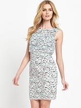 Boccara Lace Sleeveless Midi Dress