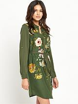 Opium Print Shirt Dress