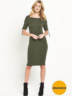 v-by-very-lace-up-sleeve-jersey-midi-dress